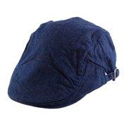 7dea5b4d8d1b0 Unique BargainsMen Women Vintage Style Newsboy Canvas Ivy Cap Driving Flat Beret  Hat Navy Blue