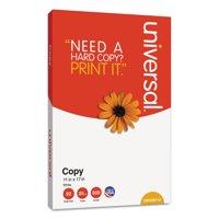 "Universal Copy Paper, 92 Brightness, 20 lb, 11"" x 17, White, 2500 Sheets/Carton"