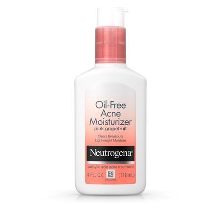 Neutrogena Oil-Free Acne Pink Grapefruit Facial Moisturizer, 4 fl. oz