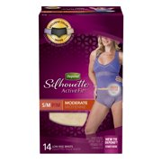 Depend Silhouette Active Fit Incontinence Underwear for Women, Moderate Absorbency, S/M, 14 Ct