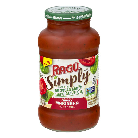 (3 pack) Ragu Simply Chunky Marinara Pasta Sauce, 24 (Best Store Bought Marinara Sauce)