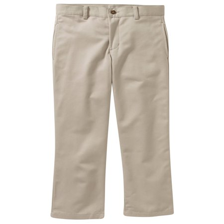 Boys Reg Husky Flat Front Twill Pant With Scotchguard