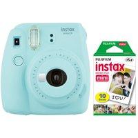 Fujifilm Instax Mini 9 Instant Film Camera & Film Pack (Ice Blue)