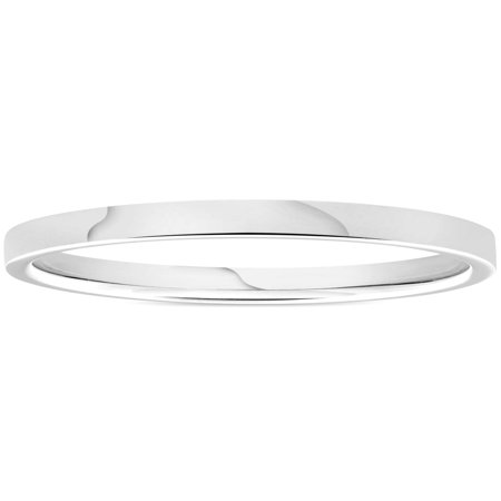 950 Platinum 2mm Flat Comfort Fit Wedding Band Ring