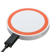 Universal Disk Style Qi Wireless Charging Pad for Qi enabled Phones White-Orange