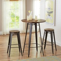 Better Homes and Gardens Harper 3-Piece Pub Set, Multiple Colors