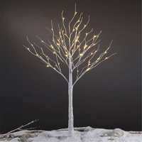 Lightshare 6' 72-Light LED Tall Birch Tree