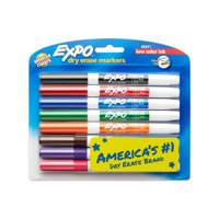 EXPO Low Odor Dry Erase Markers, Fine Tip, Assorted Colors, 8 Count