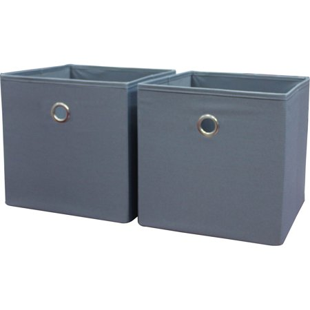 - Mainstays Collapsible Fabric Cube Storage Bins (10.5