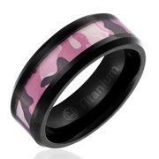 Pink Camo Wedding Ring | Camo Wedding Rings