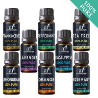 Pure Essential Oil Set (8x10mL) Natural Aromatherapy for Oil Diffuser Humidifier