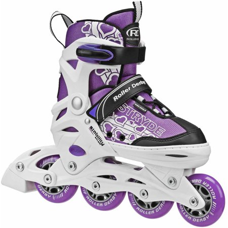 - Stryde Girls' Adjustable Inline Skates, Purple/White