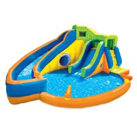 Banzai Pipeline Twist Kids Inflatable Outdoor Water Park Pool Slides & Cannons