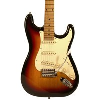 Sawtooth ES Series Left-Handed Electric Guitar, Citron Vanilla Cream with White Pickguard