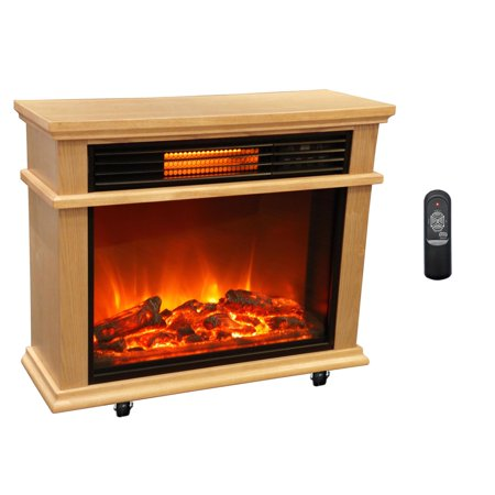 Lifesmart Large Deluxe Mantle Portable Electric Infrared Quartz