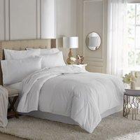 Hotel Style Premium Hypoallergenic White Goose Down Comforter, White