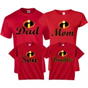 406ac04783 Halloween Matching Christmas Funny Cute T-Shirts Incredible Family MOM DAD  KIDS GoCustom