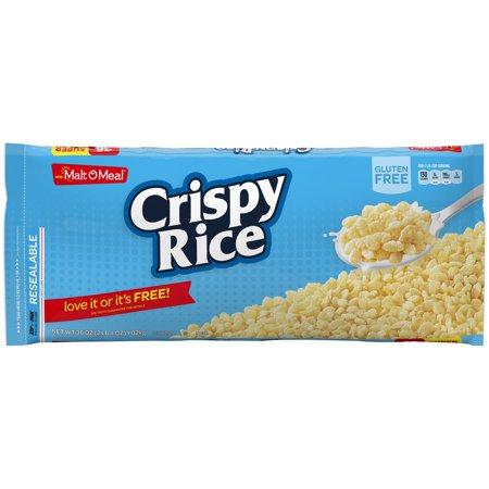 (2 Pack) Malt-O-Meal Breakfast Cereal, Crispy Rice, 36 Oz, Zip Bag Crispy Brown Rice Cereal