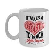 A Big Heart To Teach Little Minds Teachers Day Coffee Tea Gift Mug