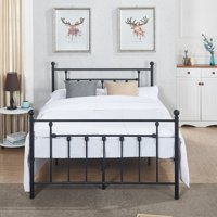 Antique Bed Frame/Platform Bed with Victorian Iron Headboard,Full Size
