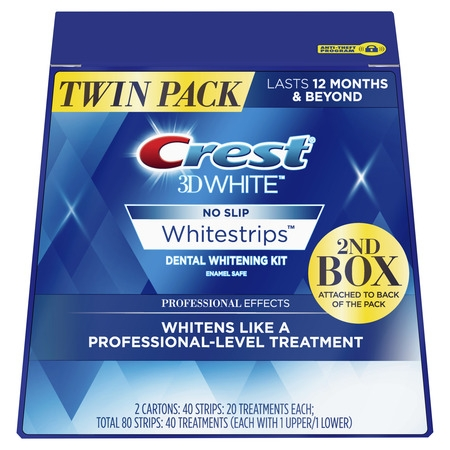 Crest 3D Professional Effects Teeth Strips Kit, 40 Treatments, Twin