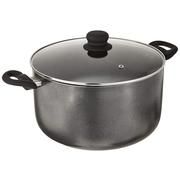 IMUSA USA 10-Quart Charcoal Nonstick Stock Pot with Glass Lid