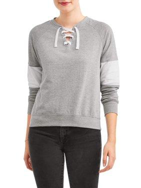 Product Image Women s Laceup Colorblock Sweatshirt 21b088718b