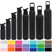 Simple Modern Summit Water Bottle + Extra Lid - Wide Mouth Vacuum Insulated - 8 Sizes, 25+ Colors