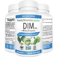 DIM Supplement 200mg Plus BioPerine (2 Month Supply of DIM) Estrogen Balance, Cystic Acne, PCOS, Hormonal Acne Treatment, Menopause Relief, Body Building. Aromatase Inhibitor. Vegan, Non-GMO, Soy-Free