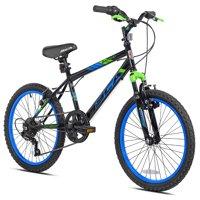 "BCA 20"" Boys', SC20 BMX Bicycle, Black/Blue, For Ages 8-12"