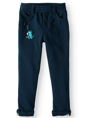 French Terry Slim Pants with Keychain (Little Boys & Big Boys)