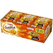 Pepperidge Farm Goldfish Flavor Blasted Xtra Cheddar Crackers, 10.8 oz. Multi-pack Tray, 12-count 0.9 oz. Single-Serve Snack Packs