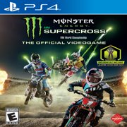 Monster Energy Supercross: The Official Videogame, Square Enix, PlayStation 4, WALMART EXCLUSIVE, 662248920573 MILESTONE