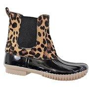 6b8c68d93e9 Dylan-81 Women Waterproof Warm Hiking Snow Rain Winter Ankle Stetch Pull On  Boot Leopard