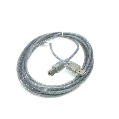 Kentek 10 Feet FT USB Cable Cord For YAMAHA PSR-E443 PSR-E453 PSR-S710 PSR-S770 PSR-S950 PSR-S970 Clear