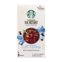 Starbucks VIA Instant Sweetened Iced Coffee (1 box of 6 packets)