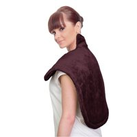 ucomfy neck & shoulder heat relief & massage wrap 6 settings, beige