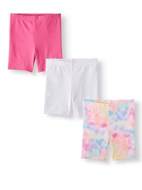 Knit Bike Shorts, 3pc Multi-Pack (Toddler Girls)