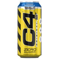 C4 Original Carbonated, Pre Workout + Energy Drink, 4-16oz Cans, Frozen Bombsicle