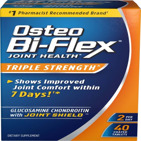 Joint Health Pack (Osteo Bi-Flex Triple Strength Coated Tablets (Pack of 40), Joint Health Supplements with Glucosamine & Vitamin C, Gluten Free)