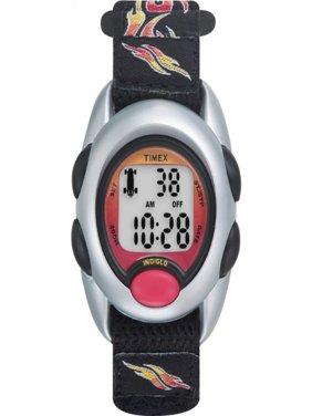 Boys Time Machines Flames Digital Watch, Fast Wrap Strap