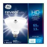 (3 pack) GE LED Reveal BR40 Light Bulb, 13W (65W Equivalent)