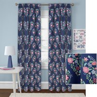Better Homes & Gardens Heart Bouquet Room Darkening Printed Window Curtain Panel