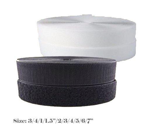MTP Black / White Sew On Style  Hook and  Loop Fastener Interlock Strap 3/4