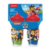 Playtex Sipsters Paw Patrol Stage 3 Insulated 9 oz Sippy Cup with Spout for Boys, 2 pack