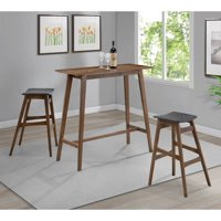 Coaster Company Mid-Century Modern Rectangular Bar Table, Walnut