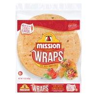 Mission Sundried Tomato Basil Flour Tortilla Wraps, 6 ct