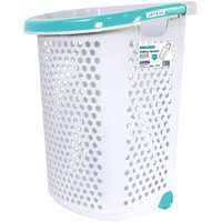 Home Logic Rolling Hamper with Pop-Up Handle 2.0 Bushel, White