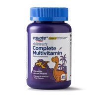 (2 Pack) Equate Children's Complete Multivitamin Animal Shaped Fruit Chewables, 60 Ct