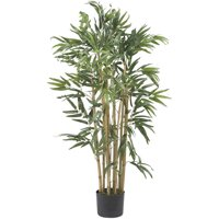 Nearly Natural 4-ft. Multi Bambusa Bamboo Silk Tree, Green